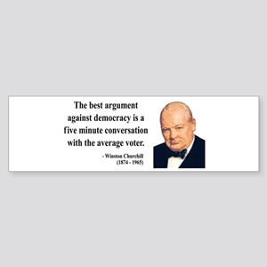 Winston Churchill 2 Bumper Sticker