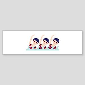 Synchronized Swimming Girls Bumper Sticker