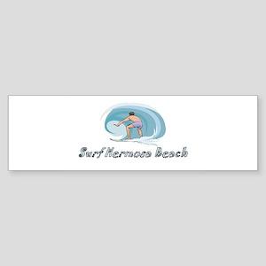 Surf Hermosa Beach, Californi Bumper Sticker