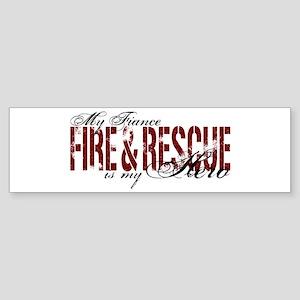 Fiance My Hero - Fire & Rescue Bumper Sticker