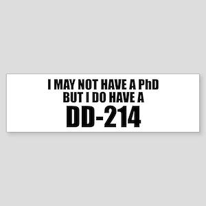 dd214 Bumper Sticker