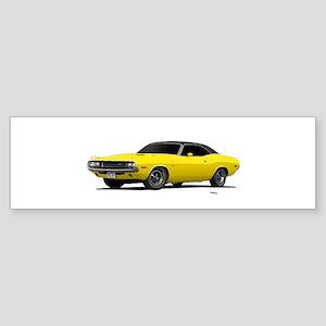 1970 Challenger Bright Yellow Sticker (Bumper)