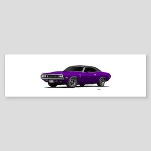 1970 Challenger Plum Crazy Sticker (Bumper)