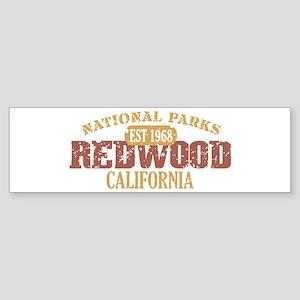 Redwood National Park CA Sticker (Bumper)
