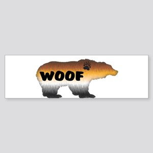 FURRY PRIDE BEAR/WOOF Bumper Sticker