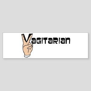 Vagitarian Bumper Sticker