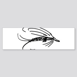 Wet Fly Lure Bumper Sticker