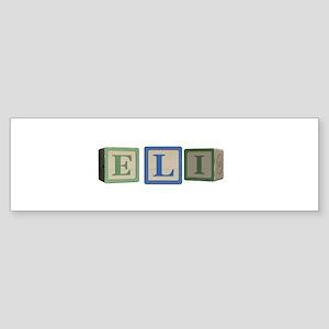 Eli Alphabet Block Sticker (Bumper)