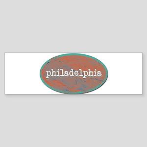 Philadelphia rustic teal Bumper Sticker