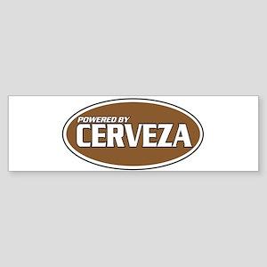 Powered By Cerveza Bumper Sticker