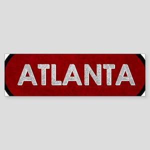 ATLANTA Red Stone Bumper Sticker