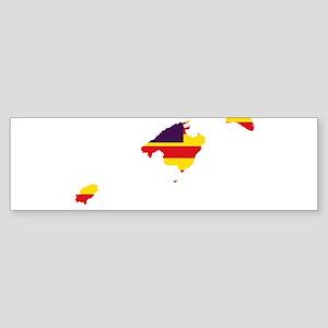 Balearic Islands Flag and Map Sticker (Bumper)