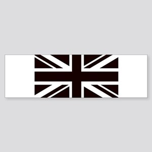 black union jack british flag Bumper Sticker