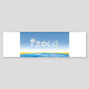 Peace-OM on earth Day Bumper Sticker