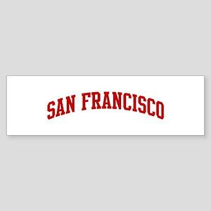 SAN FRANCISCO (red) Bumper Sticker