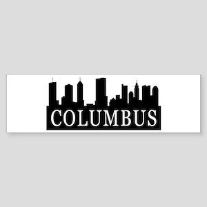 Columbus Skyline Bumper Sticker