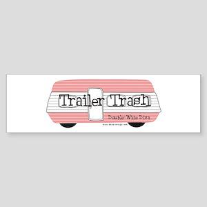 Double Wide Diva - Trailer Bumper Sticker