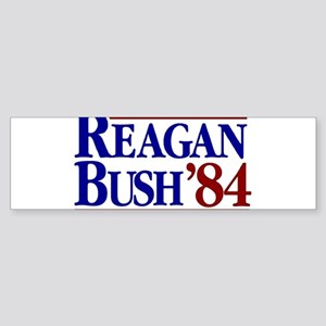REAGAN BUSH 84 Political Election R Bumper Sticker