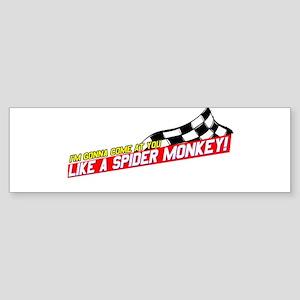 Spider Monkey Bumper Sticker