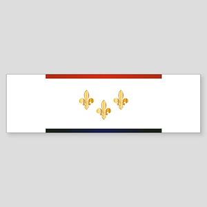 New Orleans City Flag Bumper Sticker