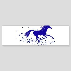 Blue Stars Pony Bumper Sticker