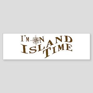 Island Time Sticker (Bumper)