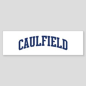 CAULFIELD design (blue) Bumper Sticker