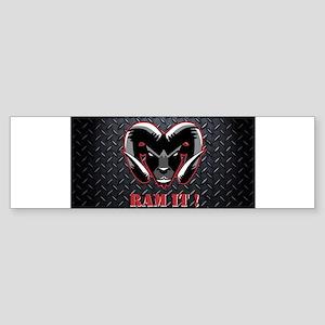 Ram It Diamond Plate Bumper Sticker
