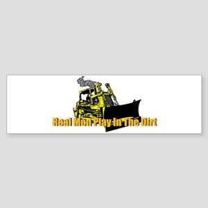 Real Men Play In The Dirt Bumper Sticker