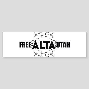 Free Alta Utah Bumper Sticker