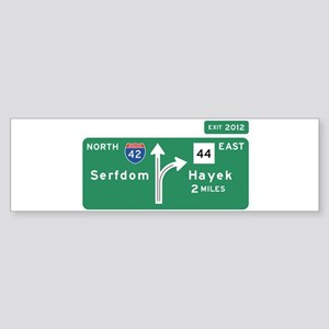 Road to Serfdom: Junction Sticker (Bumper)