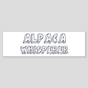 Alpaca Whisperer Bumper Sticker