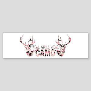 REAL GIRLS WEAR CAMO Bumper Sticker