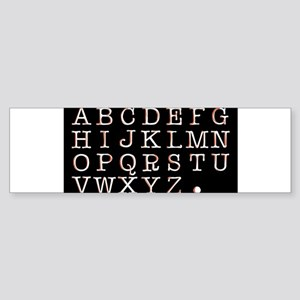 Alphabet Bumper Sticker
