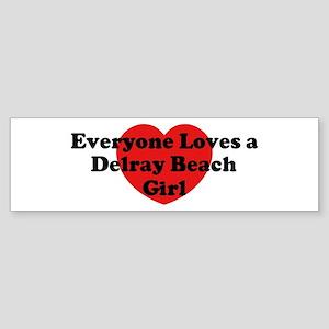 Delray Beach girl Bumper Sticker