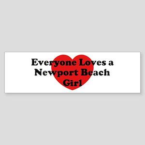 Newport Beach girl Bumper Sticker