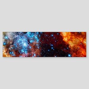 Orange Nebula Bumper Sticker