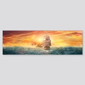 Pirate ship Bumper Sticker