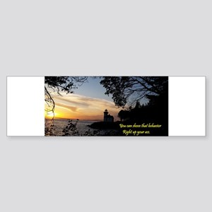 Sunset Lighthouse Bumper Sticker