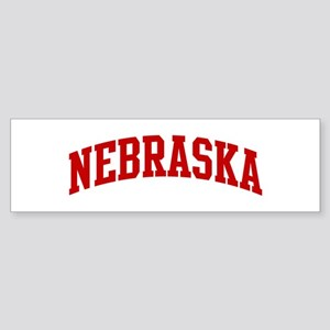 NEBRASKA (red) Bumper Sticker