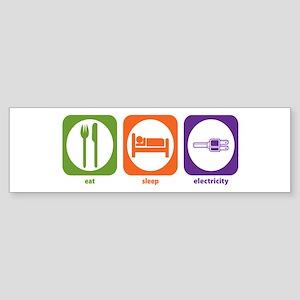 Eat Sleep Electricity Bumper Sticker