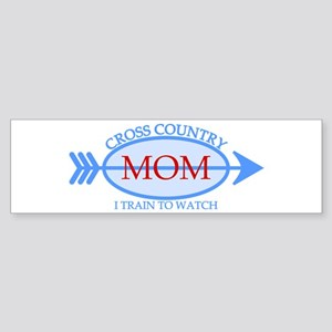 Cross Country Mom Train to Watch Sticker (Bumper)
