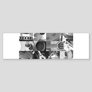 Stylish Guitar Photo Collage Sticker (Bumper)