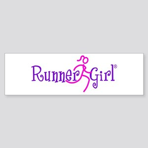 Runner Girl Bumper Sticker PPN