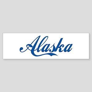 Alaska (cursive) Bumper Sticker