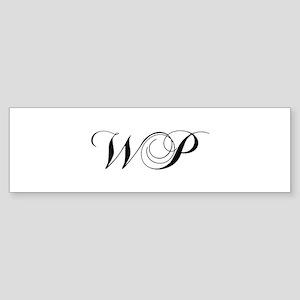 WP-cho black Bumper Sticker