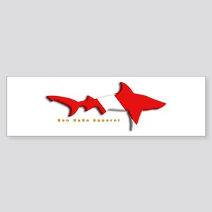 Shark Diving Flag Bumper Sticker