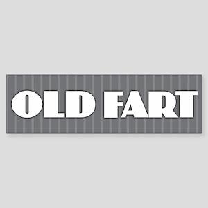 Old Fart - Gray Bumper Sticker