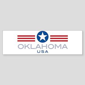 Oklahoma-Star Stripes: Bumper Sticker