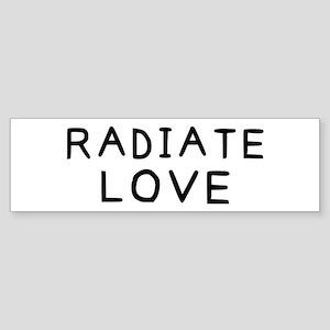 Radiate Love Sticker (Bumper)